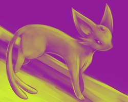 Espeon with Two Colors by BlazeDGO
