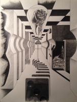Drawing Class: surreal 1-point perspective by JonOwens