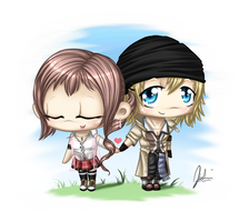 .serah and snow by May-Romance