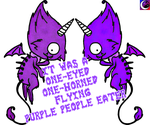 One-Eyed, One-Horned Flying Purple People Eaters! by SmilingMoonCreations