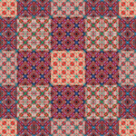 Quilt Tiles Red Orange by kawgraphics