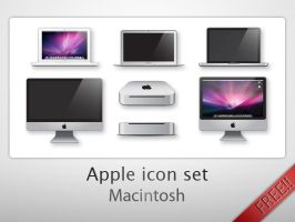 Apple icon set - Macintosh by Dario1crisafulli