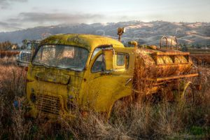 Rusty Yellow Truck by RyanVoss
