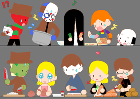 Horror Home Cooking Show by acg219