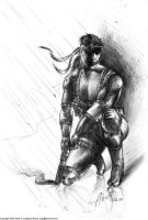 MGS2 Solid Snake rough sketch by SolidAlexei