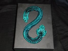 Turquoise Chainmail Snake by Froggiebuu