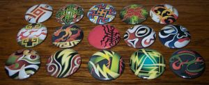 TWEWY Pins - Dragon Couture by Paradise-Props