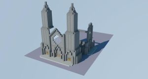 Minecraft Cathedral - WIP 2 by andrei030