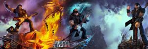 Brutal Legend dual wallpaper by Toxigyn