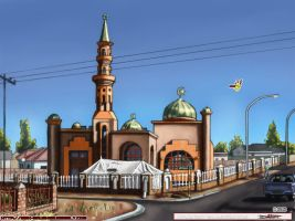 Block 6 Mosque Gaborone by MbK14