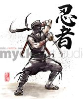 Ninja kamae by MyCKs