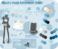 Mizuiro Hana Reference Sheet:3 by Hanoru