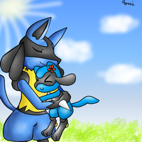 Reiki the Lucario and Riolita the Riolu brothers! by Riolu4aural