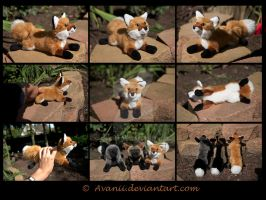 SOLD Plushie: Sienna the Red Fox by Avanii