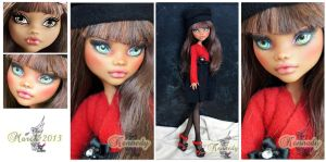 MH Clawdeen repaint #4 ~Kennedy~ by RogueLively