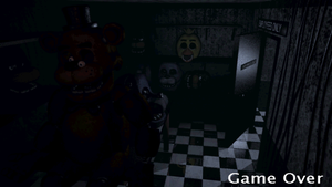 Five Nights at Freddy's Game Over screen by AndrewBride