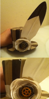 Steampunk duct tape mini top hat by NightMareBabe14