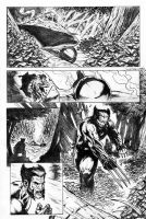 Completed Wolverine page one by dfbovey