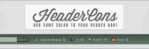 HeaderCons - Add some color to dA's header bar! by jonarific