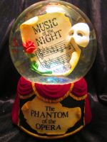 Phantom of the Opera Snow Globe by Avi-the-Avenger