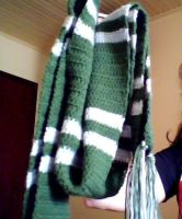 Slytherin Scarf by drianis by HogwartsArt