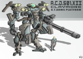 Mecha Design Claymore by yanharrison
