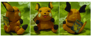 Mah new Raichu plush by Phewmonsuta