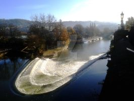 The Wier in Bath by Kevin-Welch