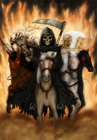 Four horsemen of Apocalypse by mkozmon
