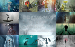 Rain Illustration Photopack By Lya by EllieJung