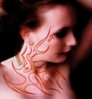 flames on her skin by fastworks
