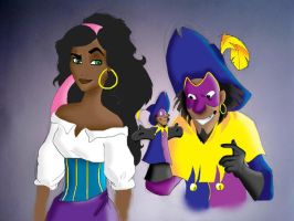 Esme and Clopin by Isnabel