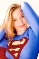 Supergirl - Angel on white... by ladynoelle