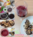vegan Glutinous rice cake and mulberry drink by Doll1988