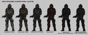Advanced Infantry units by TenebraesRising