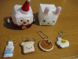 DIY Plushies food series by The-little-me
