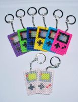 Game Boy Key Chains. by craftyhanako