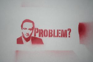David Cameron, Problem?Stencil by bookabooka