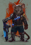 Grizzled Sci-Fi Mouse Veteran by Taylor-payton