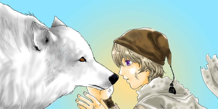 Little Ivan and the White Wolf by KailiStark