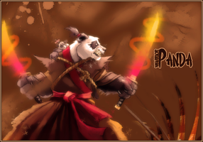 panda warrior by DarkWolfjo