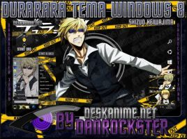 Shizuo Heiwajima Theme Windows 8 by Danrockster