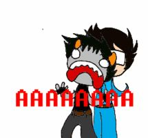 Karkat reaction gif (open to see) by LadyDestinyWeb