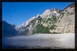 Foggy Koenigssee by deaconfrost78