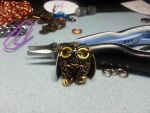 Tiny Chain Maille Owl by FeMailleTurtle