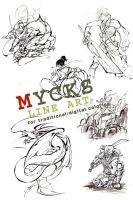 Line art bundle by MyCKs