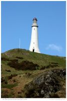 Lighthouse Up High and Inland by In-the-picture