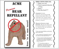 Bear Repellant Label by westernphilosopher