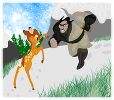Bambi vs. Shan Yu by andy-pants