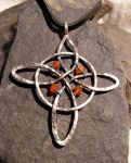 Carnelian Witches Knot by MoonLitCreations